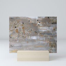 Silver and Gold Abstract Mini Art Print