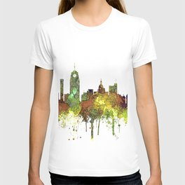 Lansing, Michigan Skyline - Safari Buff T-shirt