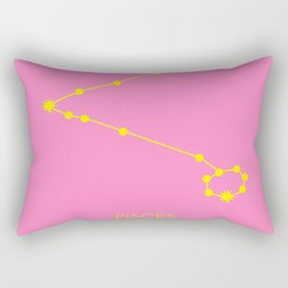 PISCES (YELLOW-PINK STAR SIGN) Rectangular Pillow