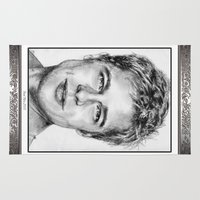 brad pitt Area & Throw Rugs featuring Brad Pitt in 2006 by JMcCombie