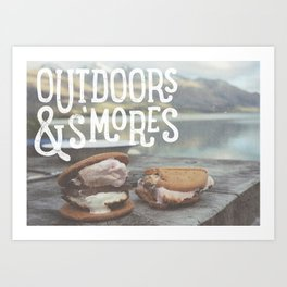 outdoors & S'mores Art Print