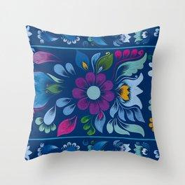 Retablo Azul Throw Pillow