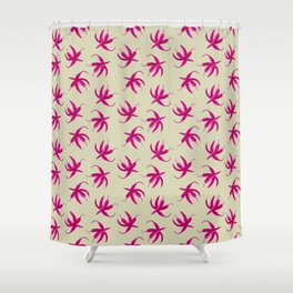 Pink Pepper Stars Shower Curtain