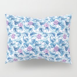 Ipomea Flower_ Morning Glory Floral Pattern Pillow Sham