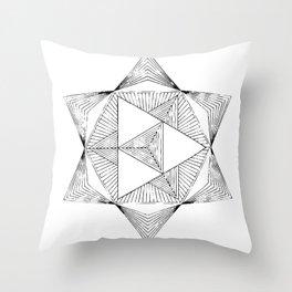 star tetrahedron Throw Pillow