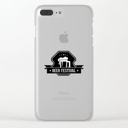 Beer Fisteval Clear iPhone Case