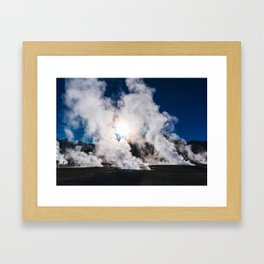 Tatio Geysers in the Atacama Desert, Chile Framed Art Print