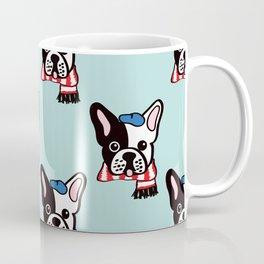 French Bulldog in Robins Egg Blue Coffee Mug