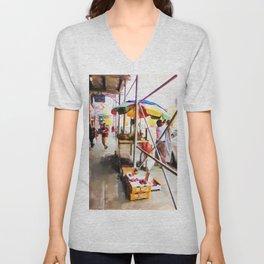 Street Vendors 2 Unisex V-Neck