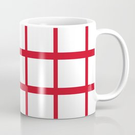 Abstraction from the Flag of england Coffee Mug