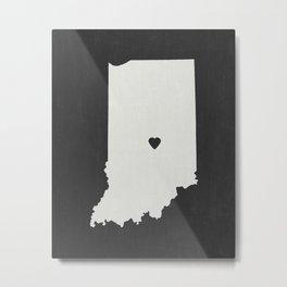 Indiana Love Metal Print