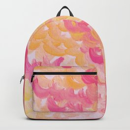 PINK PLUMES - Soft Pastel Wispy Pretty Peach Melon Clouds Strawberry Pink Abstract Acrylic Painting  Backpack