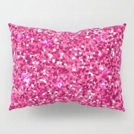 Hot pink white modern abstract pattern Pillow Sham