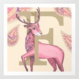Fiadh Deer Art Print