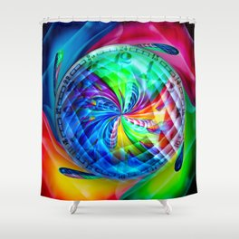 Abstract in perfection - Time s running Shower Curtain