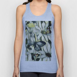Spring Delight - Flowers And Butterflies Unisex Tank Top