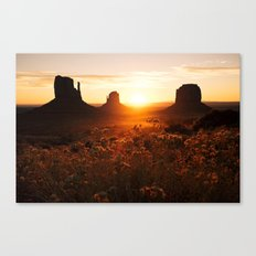Sunrise in Monument Valley Canvas Print