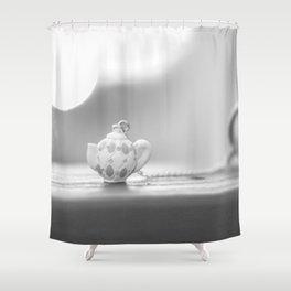 mini teapot Shower Curtain