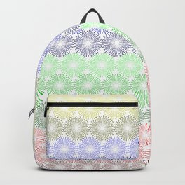 Pattern composed of fireworks Backpack