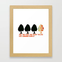 Common People Framed Art Print