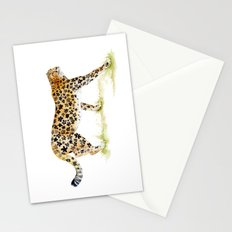 Flower Pattern Cheetah Stationery Cards