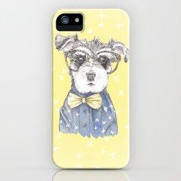 Schnauzer Dog Hipster Pup iPhone Case