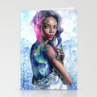 northern lights Stationery Cards featuring Northern Lights by Tanya Shatseva
