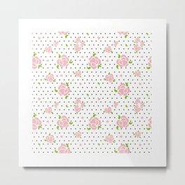 """""""Roses & Dots"""" Metal Print"""