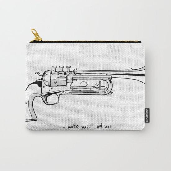 Make music, not war. Carry-All Pouch