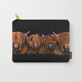 HiGHLaND CoW PRiNT SCoTTiSH ' THe GiNGeR NuTS ' BY SHiRLeY MacARTHuR Carry-All Pouch