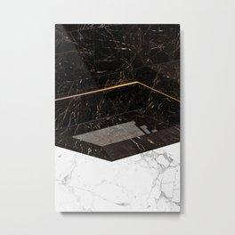 Marble Paradox Metal Print