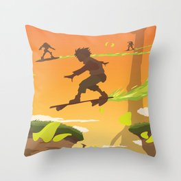 Bellforest (Eureka Seven) Travel Poster Throw Pillow