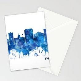 Paterson New Jersey Skyline Blue Stationery Cards