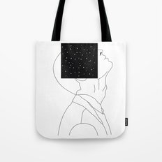 What is he thinking about? Tote Bag