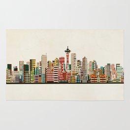 seattle city skyline Rug