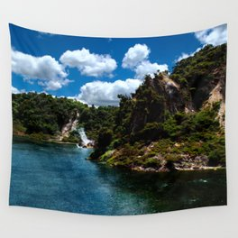 Frying Pan Lake, New Zealand Landscape Wall Tapestry