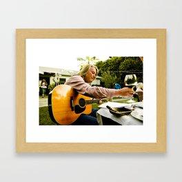 Backyard Blues Framed Art Print