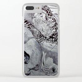 """Dark Ocean"" Clear iPhone Case"