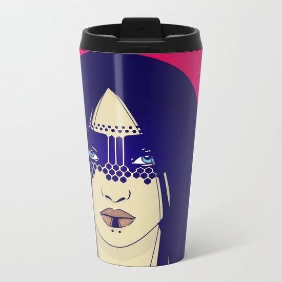 Tribal Lady Metal Travel Mug