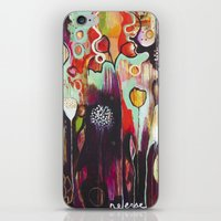 """flora bowley iPhone & iPod Skins featuring """"Release Become"""" Original Painting by Flora Bowley by Flora Bowley"""