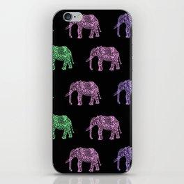 Tribal elephant pattern iPhone Skin