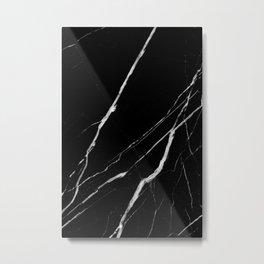 Black Marble No.1 Metal Print