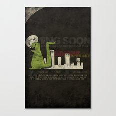 Dinosaur in the City Canvas Print