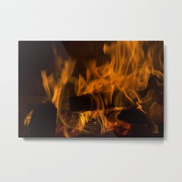 Fireside Warmth Metal Print