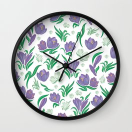 Crocus background Wall Clock