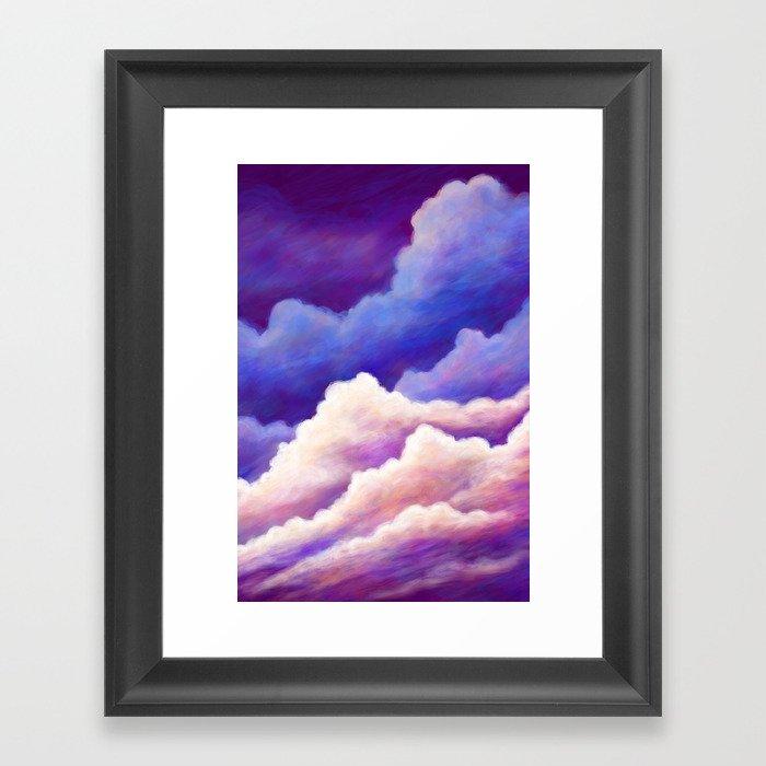 Dreamy Clouds Framed Art Print
