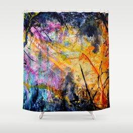 Space Kaboom Shower Curtain