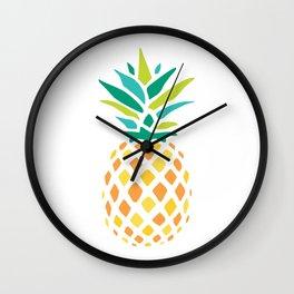 Summer Pineapple Wall Clock