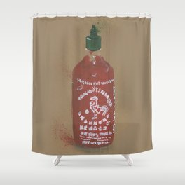Sriracha Sauce - These are the things I use to define myself Shower Curtain