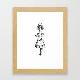 Alice in Wonderland - Long Neck Framed Art Print